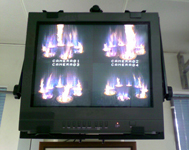 Monitor View of Fire Heater Burner